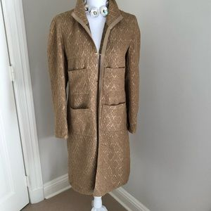 Palmer Jones gold duster coat
